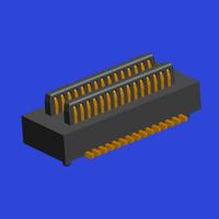 0.50mm間距BTB 雙槽 公座Male 立貼帶定位柱