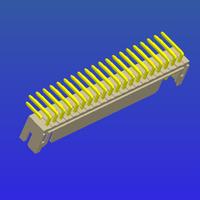 PH2.0mm間距雙排T1彎針